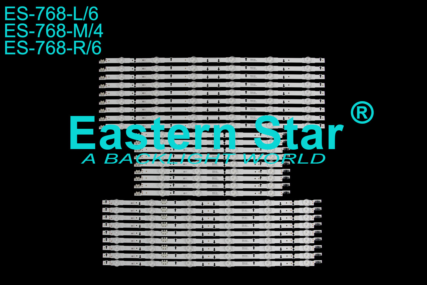 ES-768 LED TV Backlight use for Samsung 75'' UE75H6470, UE75H6400 SAMSUNG_2014SVS75F_3228_L06 M04 R06  LED STRIPS(27)
