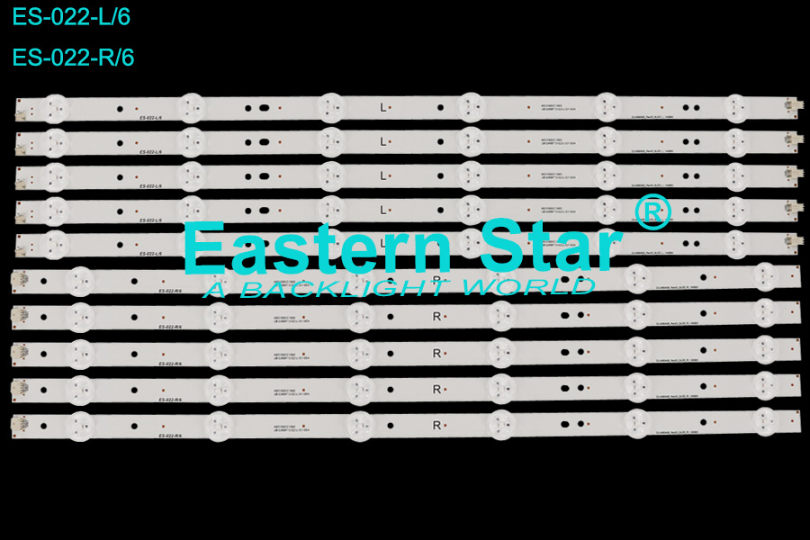 ES-022 TV Backlight Bar use for Micromax/Konka/Snowa/Vestel 49'' 6+6 SVJ490A06_Rev03_6LED_R/L_140805 led strips (10)