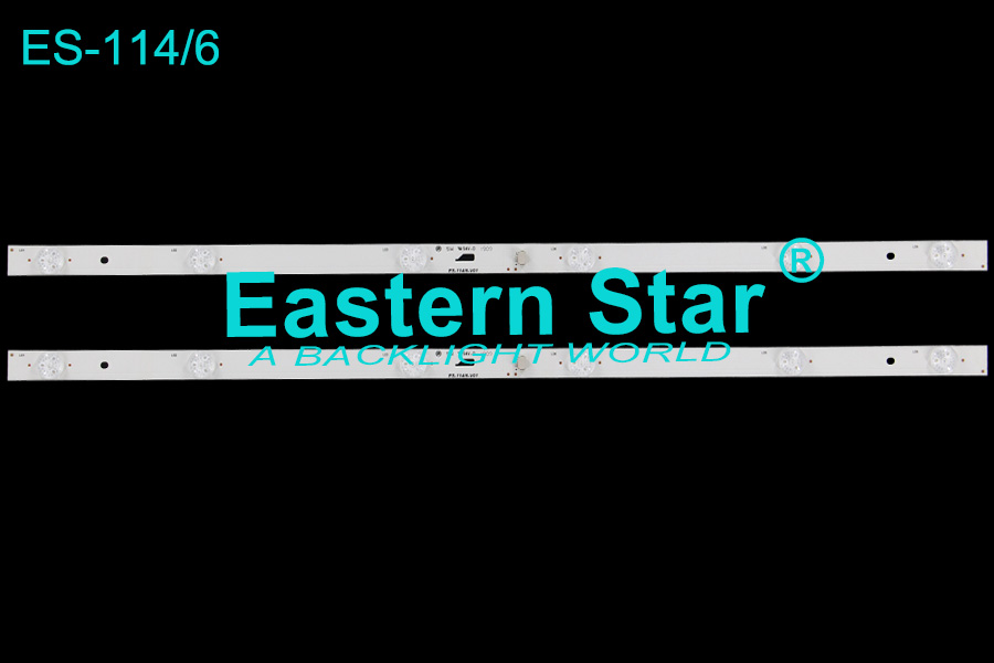 ES-114 TV Backlight use for Micromax 32'' 6LEDs JL.D32061330-004AS-M led backlight strips (2) LVW320CSDX