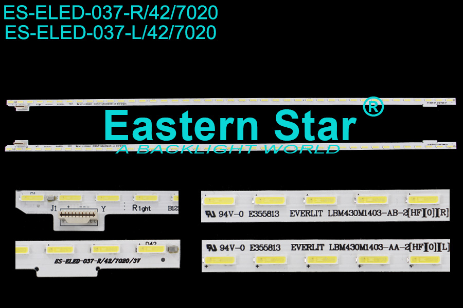 ES-ELED-037 ELED/EDGE TV backlight use for Sony 43'' R+L 42+42LEDs EVERLIGHT LBM430M1 403-AA/B-2(HF)(0)(R/L) led backlight strips KDL 43W805C