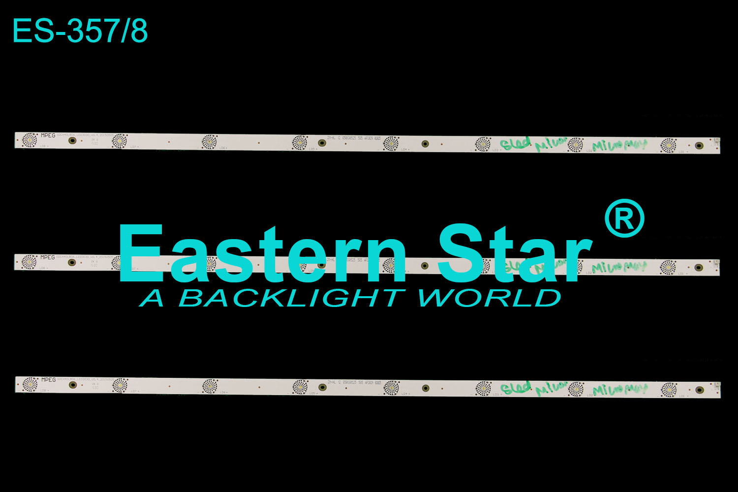 ES-357 LED TV Backlight use for MICROMAX/CHANGHONG GDCH40LB06_LED3030_V0.4_20150505 LED STRIP(3)