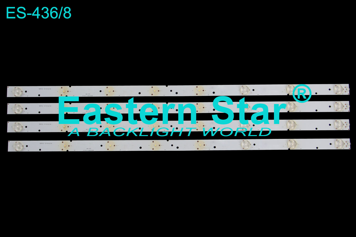 ES-436 LED TV Backlight use for SKYTECH JF P/N:01.JL.D3281235-06ES LED STRIPS(4)