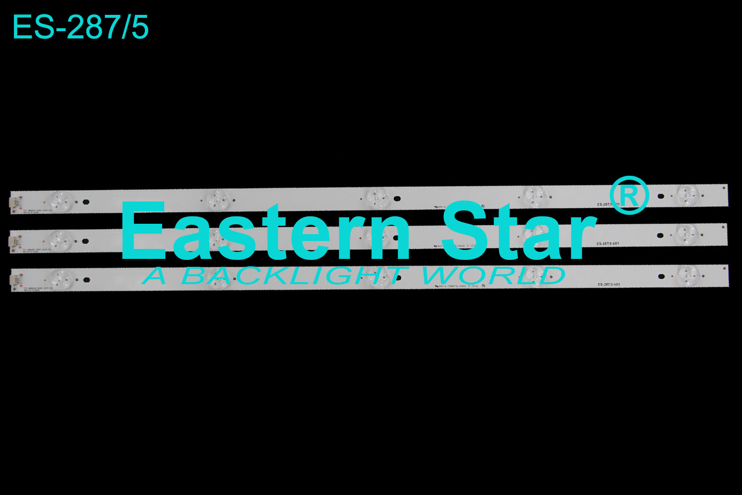 ES-287 TV Backlight use for Goldstar with 5LEDs TOT_28B2550_3030C_5S1P 17MM REV.V4 2013/9/25 led backlight strips (3)